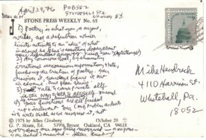 postcard from ginsberg