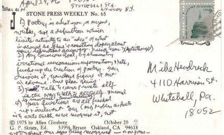 A Postcard from Ginsberg