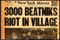 Beatnik newspaper headline