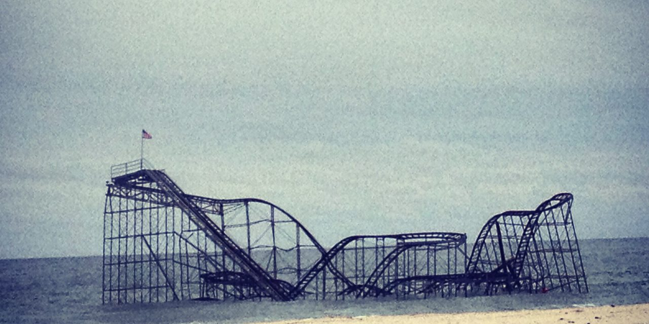 Poetry of Roller Coaster in Ocean