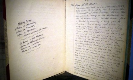 A Soft Old Book with Handwritten Notes as Memento of a Life
