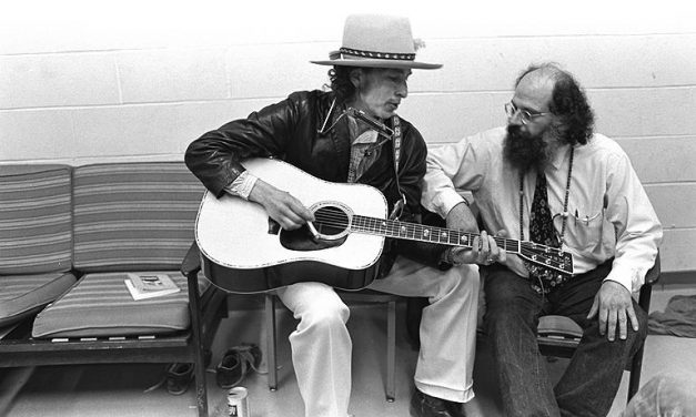 Allen Ginsberg and Bob Dylan