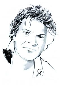 Gregory Corso portrait by Isaac Bonan