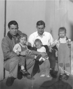 Al, Jack, Jami and Cathy Cassady, Mark Hinkle Spring 1952