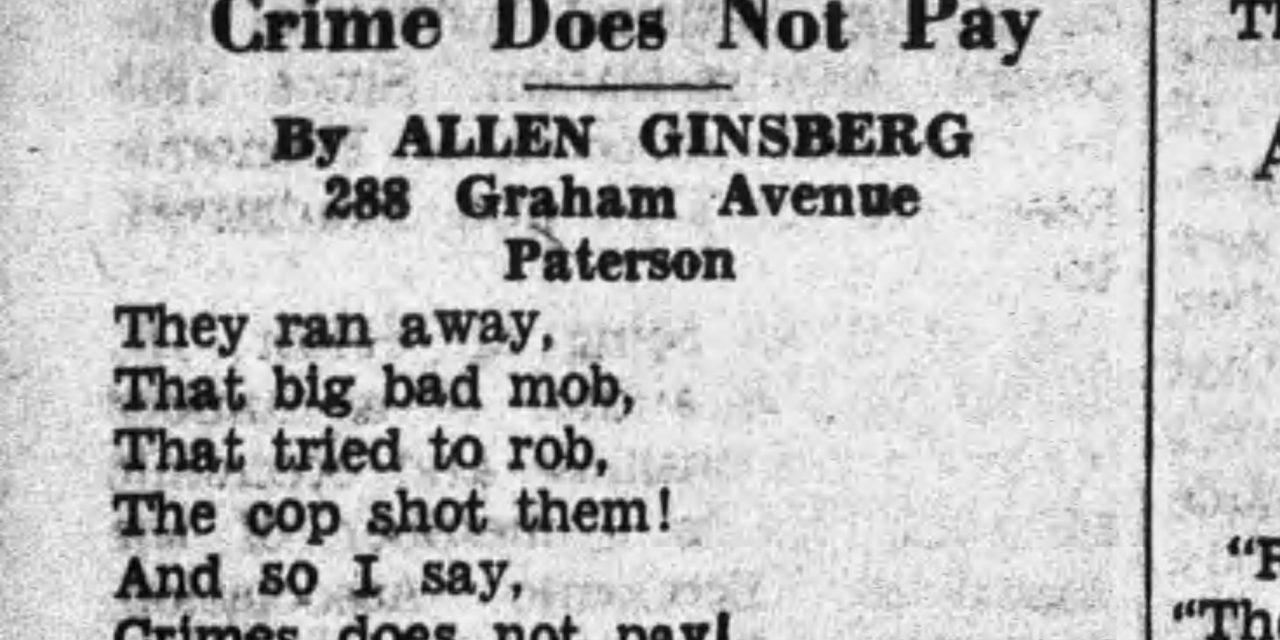 Allen Ginsberg's First Poem?