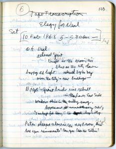 allen ginsberg handwritten notes
