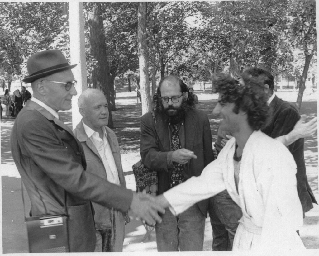 william s burroughs and jean genet at chicago democratic convention